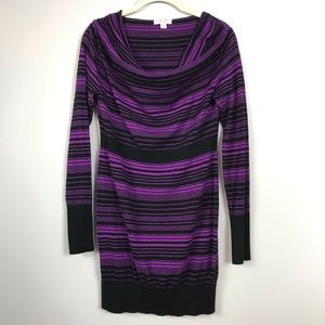 Liz Lange maternity purple black sweater dress XS